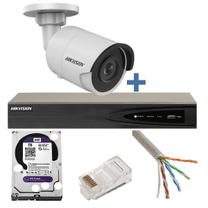 Sistem complet supraveghere video IP UHD, 8MP (4K), 8 camere exterior, IR 30m Hikvision KUB-HOMEPRO-8E