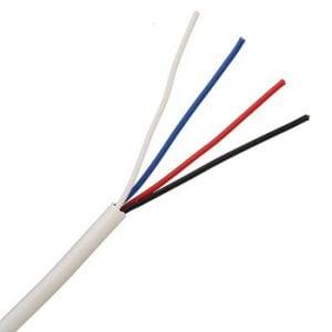 Rola 100m cablu ecranat CQR pentru alarma cu 4 fire si ecran CAB-AL-4