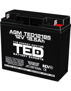 Acumulator stationar 12V 18,5Ah F3 AGM VRLA TED Electric TED12185