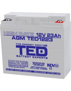 Acumulator stationar 12V 23Ah High Rate M5 AGM VRLA TED Electric TED1223