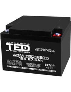 Acumulator stationar 12V 27,5Ah M5 AGM VRLA TED Electric TED12275
