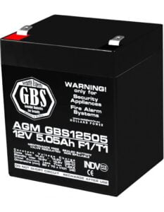 Acumulator stationar 12V 5,05Ah F1 AGM VRLA GBS GBS12505