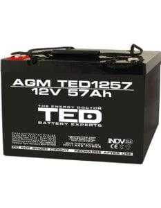 Acumulator stationar 12V 57Ah M6 AGM VRLA TED Electric TED1257