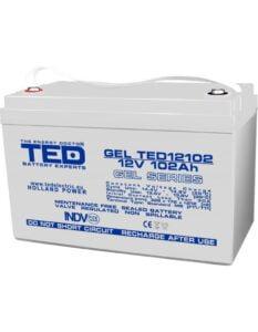 Acumulator stationar VRLA 12V 102Ah GEL M8 F12 ED Electric TED12102
