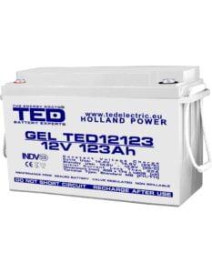 Acumulator stationar VRLA 12V 123Ah GEL M8 F12 TED Electric TED12123