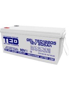 Acumulator stationar VRLA 12V 205Ah GEL M8 F12 TED Electric TED12205
