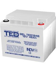 Acumulator stationar VRLA 12V 46Ah GEL M6 TED Electric TED1246