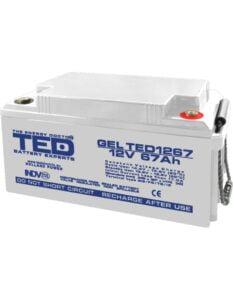 Acumulator stationar VRLA 12V 67Ah GEL M6 TED Electric TED1267