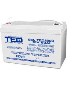 Acumulator stationar VRLA 12V 93Ah GEL M6 F12 TED Electric TED1293