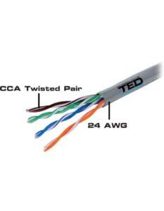 Cablu UTP categoria 5e / 2 x 4 fire CCA TED Electric